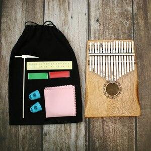 Image 5 - 17 Key Kalimba African Solid Pine Mahogany Thumb Finger Piano Sanza Mbira Calimba Play with Guitar Wood Musical Instruments