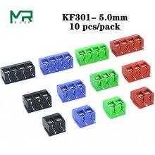 10 шт. KF301-2 P винт 5,0 мм клеммный блок 2 Pin 3 Pin Spliceable pcb клеммный блок разъем