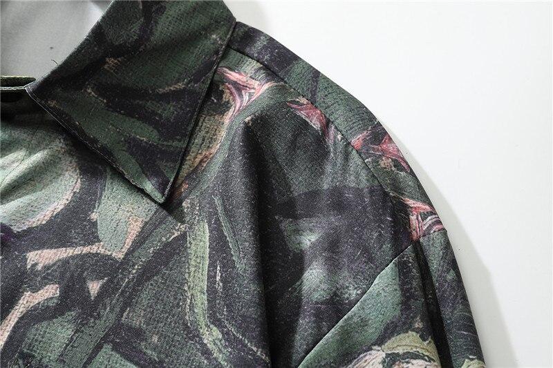 Ícone escuro flor pintura a óleo camisa