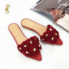 Womens shoes with flowers flat shoes pointed shoes lovely shoes