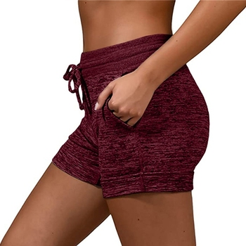 Women´s Shorts Ladies Summer Casual Females Sports Shorts Lace-up Run Bike Loose Pockets Solid Shorts Hot Fitness Gym Wear Running & Yoga Sports & Entertainment Sports and Outdoor Women Sportswear Yoga Pants Yoga Shorts Color: Red Size: XXL