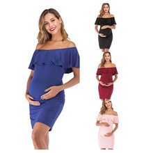 Maternity-Clothes One-Word-Collar dresses Nursing-Dress Feeding Pregnant-Na407 Benemaker