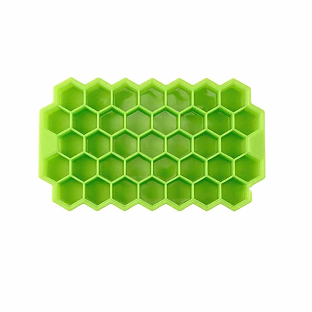 37 Grid Honeycomb Silicone Ice Tray DIY Drink Ice Cubes Can Be Stacked Ice Cubes With Lid Ice Box Mold Cold High Temperature