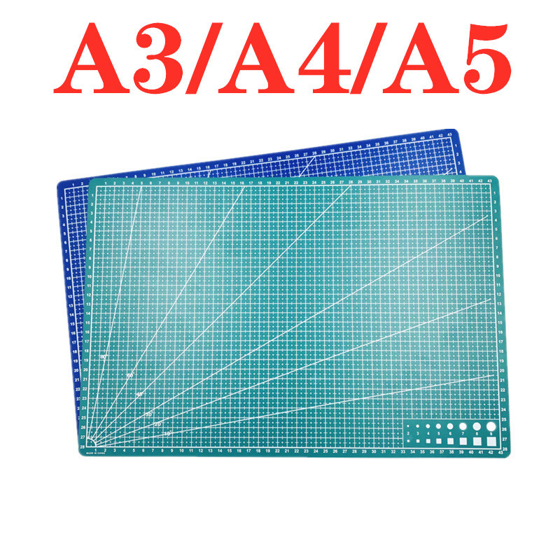 A3 A4 5 PVC Cutting Mat Workbench Patchwork Cut Pad Sewing Manual DIY Knife Engraving Leather Cutting Board Single Side Underlay