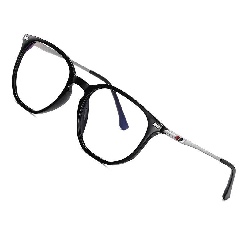 AOFLY Round Blue Light Glasses Men Women Alloy Temple Optical Glasses Frame Fashion Computer Eyewear 2020 Myopia Spectacles