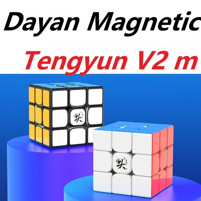 Original Newest Dayan tengyun V2 M Magnetic 3x3x3 Cube Cubo Magico 3x3 with Magnets Educational Toys for kids Gifts Tengyun V2M 2