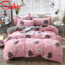 Simple Duvet Cover Child Cartoon Nordic Bedding Set Couple Bed Quilt Sheet King Size Single Double Queen Linens