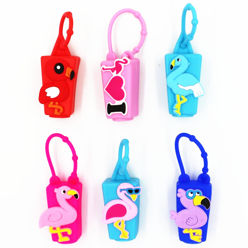 Image 3 - Flamingo Unicorn Party Hand Sanitizer Bottle Set Baby Shower 