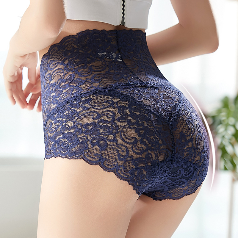 3 adet dantel külot artı boyutu yüksek bel seksi iç çamaşırı örgü çiçek nefes Butt Lift Lingerie süper elastik dikişsiz külot tanga sexy iç çamaşırı kadın fantazi giyim seksi bayan iç çamaşırı seksi külot iç