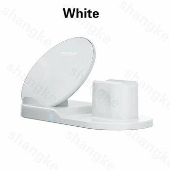 Ασύρματη βάση φόρτισης για iphone airpods apple watch, series 5/4/3/2 iphone 11 x xs.