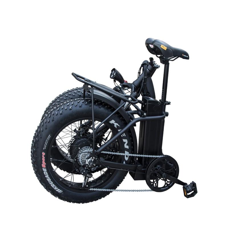 CMSTD-20PW 20 inch 48v 500w fat tire folding electric bike 7 speed foldable mountain e-bike