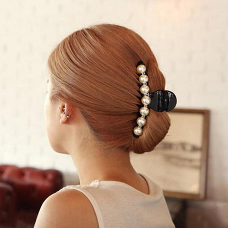 Fashion Pearl Hair Claws For Women Hairpins Banana Clips Hair Accessories Ornaments Headwear Hair Clip  Girl