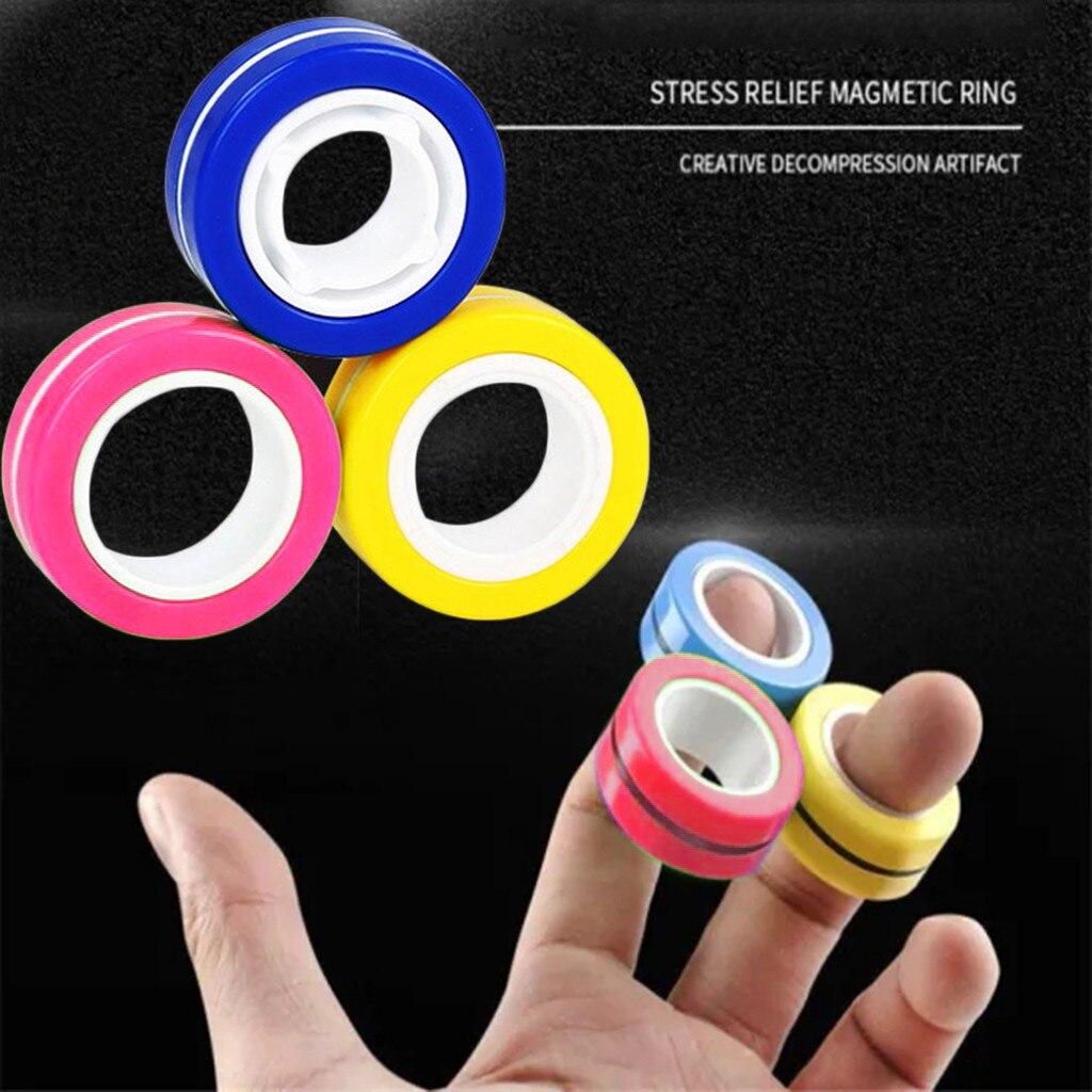Toy Ring Bracelet Fidget-Toys Stress Magnetic Unzip Zabawki