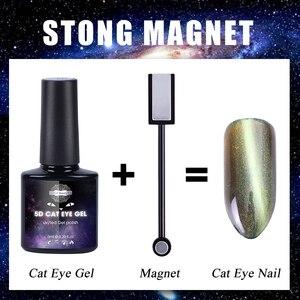 Image 2 - Bâton magnétique Double tête pour Nail Art, aimant yeux de chat, pour vernis, Gel, ligne 3d, effet bande, stylo magnétique puissant, outils, BE537 1