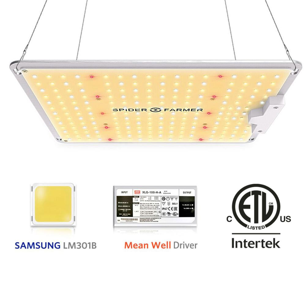 Spider Farmer SF 1000W Full Spectrum Led Grow Light Lamp For VEG Plants Flowers  Samsung LM301B Meanwell Driver Growing Lights