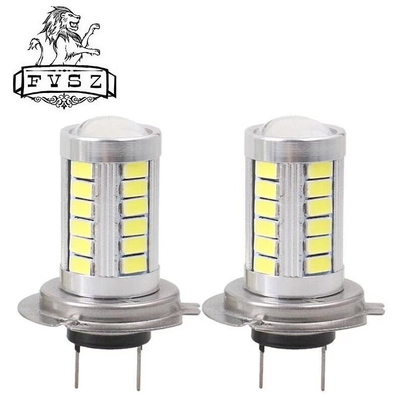2Pcs H7 Led 16.5W 6000K 990lm 33-SMD Car LED Lights Bright The Headlights Are Ultra White Light Fog Lamps Light Bulb