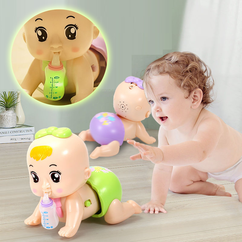 Baby Crawl Toy for 0-1 Year Old Infants 6-12-18 Months Children Puzzle ElectricToddlers Learn To Climb Toys Kids Early Education
