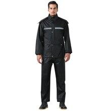 цена на Motorcycle Cycling Raincoat Waterproof Full Body Suit Adult Rain Coat Pants M-4XL Polyester Fiber Rainy Day Rainwear Poncho