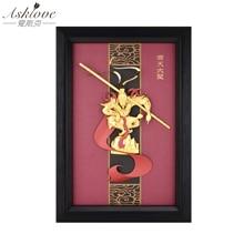 3D猿王写真金箔絵画手芸額装絵画孫悟空壁の写真家の装飾のギフト
