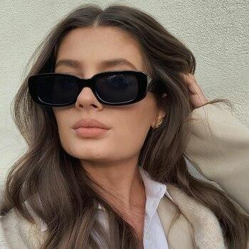 Fashion Rectangle Vintage Sunglasses 1