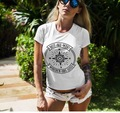 «Not All Who Wander Are Lost' с буквенным принтом компасы Графические футболки для женщин Приключения Wanderlust футболка Путешествия Мода эстетические Топ...
