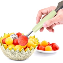 DIY Stainless Steel Fruit Digging  Watermelon Spoon Carving Knife Creative Ice Cream Dig Ball Scoop Kitchen Accessories