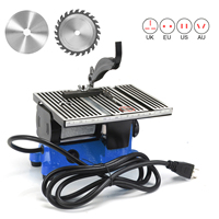 4 Inch Mini Table Saw With 2 Blades 60W 4500Rpm Woodworking Machines Cutter For Cutting Stone Copper Aluminium