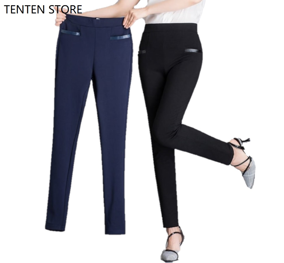 Women High Waist Pants Womens Push Up Pants Women Skinny Pants Ladies Full Length Stretch Casual Office Trousers With Pockets