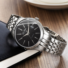Business Men Automatic Watch Classic Mechanical Watches Top Brand Luxury Male Stainless Steel Sapphire Clock Relojes Hombre burei mechanical watch men top brand luxury clock stainless steel band sapphire automatic man waterproof wristwatches hot sale