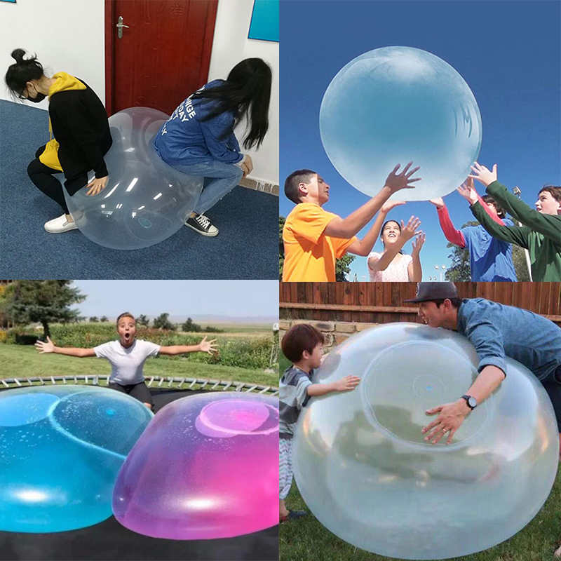 Festival Party Baby Outdoor Bubble Balls 120cm Super Large Water Filled Rubber Summer Outdoor Aquatic Games Bath Balloon Toys