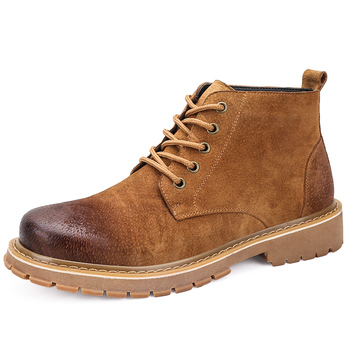 England brand designer mens casual desert boots genuine leather shoes platform spring autumn ankle boot botines hombre zapatilla