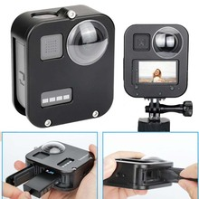 JINSERTA Housing Shell Case Cover for Gopro Max CNC Aluminum Alloy Protective Cage with Lens Cap for GoPro Max