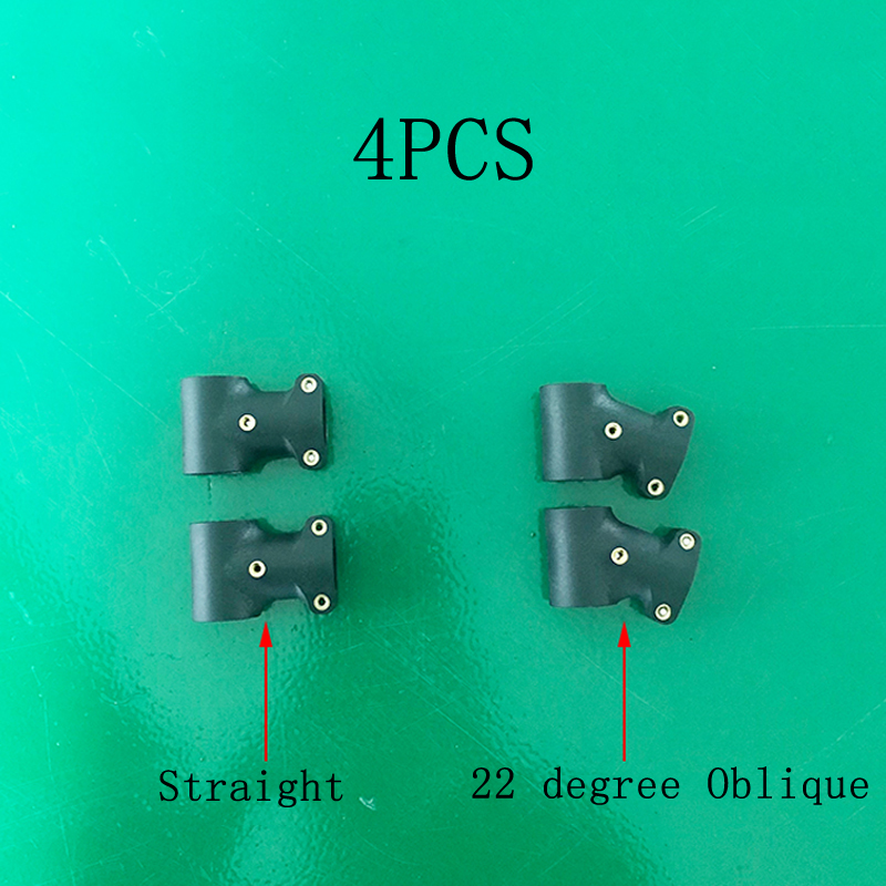 4PCS 20 to 20mm Nylon Tee Joint Carbon Fiber Pipe Connector Landing Gear Fixed Joint Straight/Oblique for RC Plant UAV Drone image
