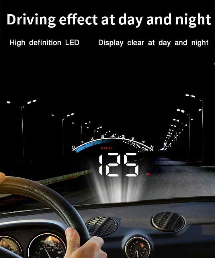 GEYIREN HUD M6S จอแสดงผลรถยนต์ HUD KM/H MPH Auto Electronics ดีกว่า A100s OBD2 HUD กระจกโปรเจคเตอร์จอแสดงผลรถ 2019