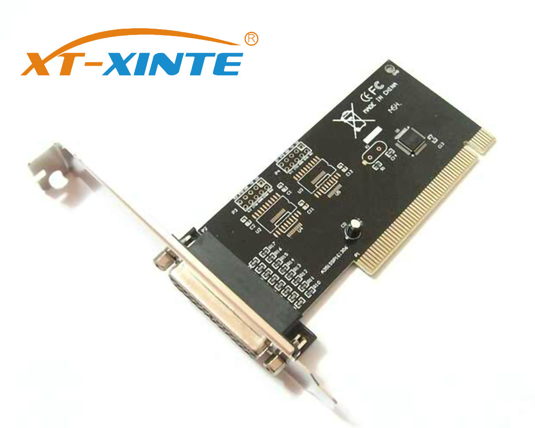 XT-XINTE Pci Expansion Card Adapter 25Pin Parallel Lpt Pci To Parallel Db25 Printer Port Controller Card