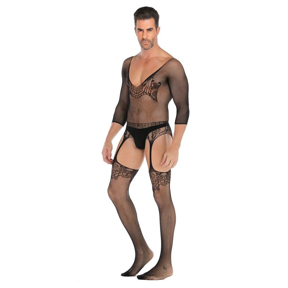 Men's Oversized Sexy Lingerie, Open-end Sexy Net Clothes, Uniform Temptation Clothing Sexy Suit,Plus Size Costumes,Mens Bodysuit