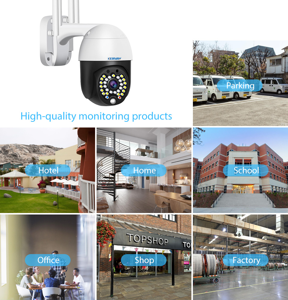 1080P PTZ IP Camera HD Wifi Outdoor Speed Dome YCC365 Plus Wireless Wifi Security Camera Pan Tilt 2MP Network CCTV Surveillance