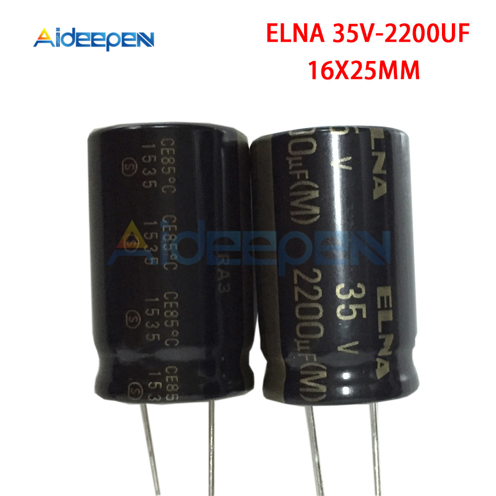Original ELNA Audio Capacitor RA3 35V 2200uF 16*25mm Aluminum Electrolytic Capacitor Low Impedance Capacitance