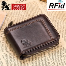 Men Wallets Brand Genuine Leather man Wallets Short Coin Purse Small Retro Wallet Cowhide Leather Card Holder Pocket Purse