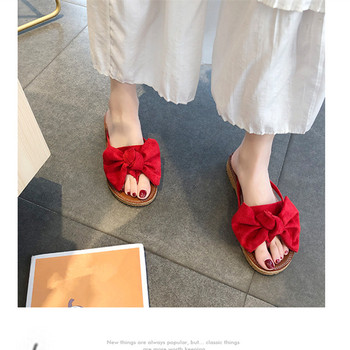 FAYUEKEY 2019 Bow Slippers Women Torridity Butterfly Sandals Slipper Indoor Outdoor flip-flops Beach Shoes New Fashion Female 5