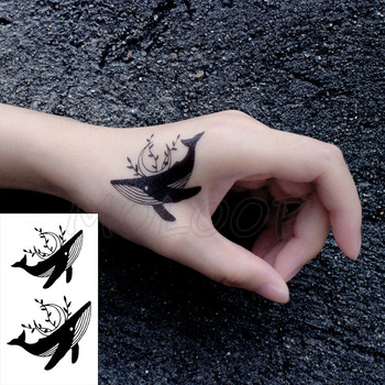 Tattoo Sticker Body Art Black White Drawing Little Element snake rose flower Water Transfer Temporary Fake tatto flash stickers 1