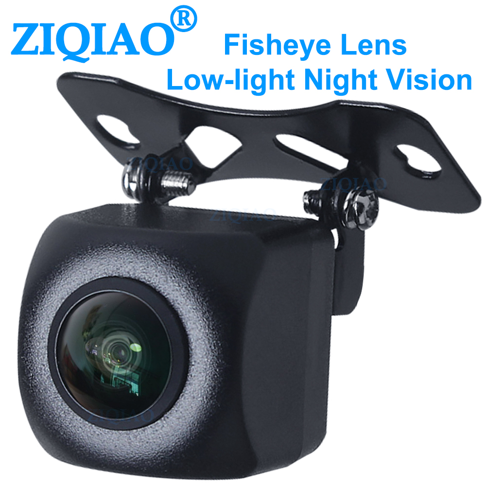 ZIQIAO Car Rear View Camera Fisheye Lens Starlight Night Vision MCCD Universal Parking Assistance Reversing Camera / HS075
