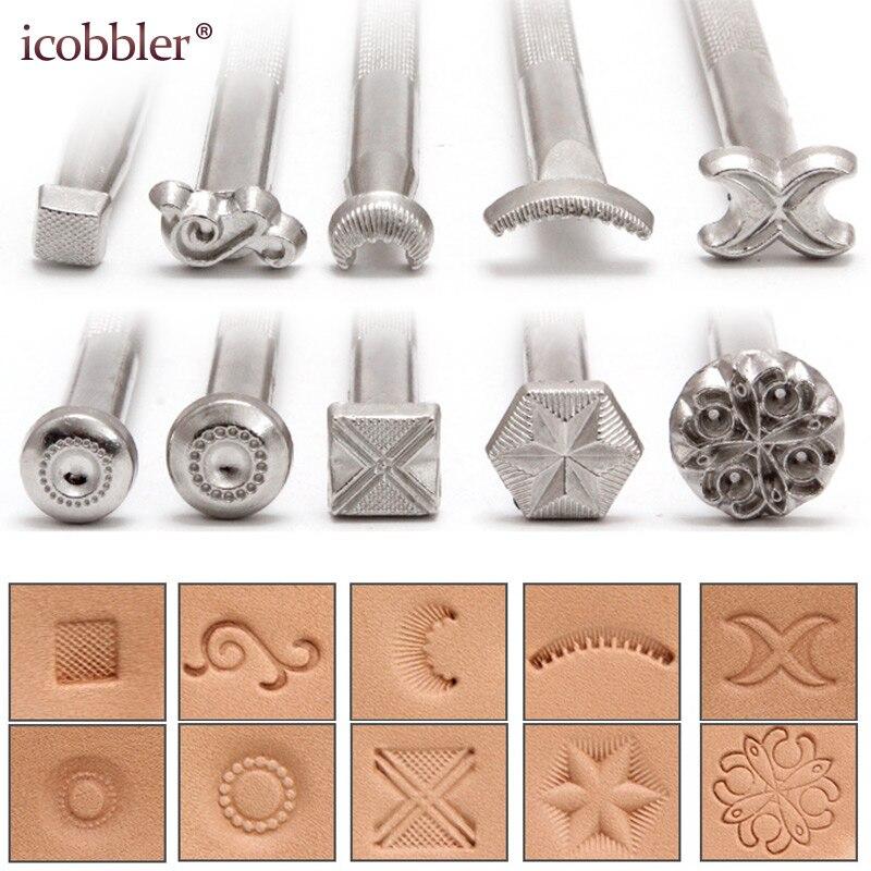 Новые узоры, инструменты для штампов, металлические штампы для кожи, для работы с кожей, Натуральная Воловья кожа, резной узор, цветочный тот...