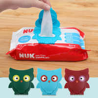 Baby Wipes Lid Baby Wet Wipes Cover Portable Child Wet Tissues Reusable Lid Cartoon Owl Wipes Wet Paper lid Useful Accessorie