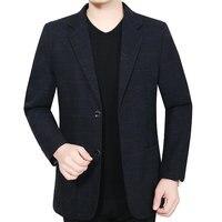 Autumn Winter Man Slim Fit Blazer Dark Red Black Blue Notched Collar Design Jacket Suits Men Smart Business Casual Outfit Suit