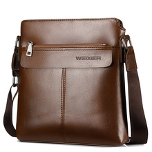 WEIXIER Men s Crossbody Bag Men Shoulder Bags Zippers Handbags Large Capacity Vertical Squarer Bag for Male Messenger Tote Bags