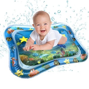 Image 1 - Baby Kids Water Play Mat Toys Inflatable PVC infant Tummy Time Playmat Toddler Activity Play Center Water Mat Dropshipping
