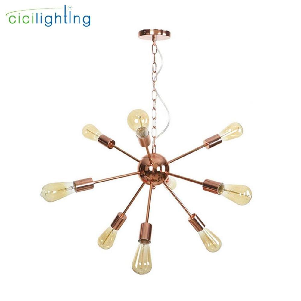 Haute qualité plaqué lustre moderne arbre branche araignée chaîne lustre lustres 9/12/15/18/21 lumière Art décor suspension