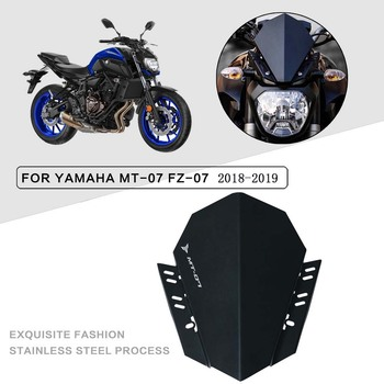For YAMAHA  MT-07 FZ-07 MT FZ 07 2018-2020 Windshield Wind Deflector Motorcycle Windscreen Aluminum
