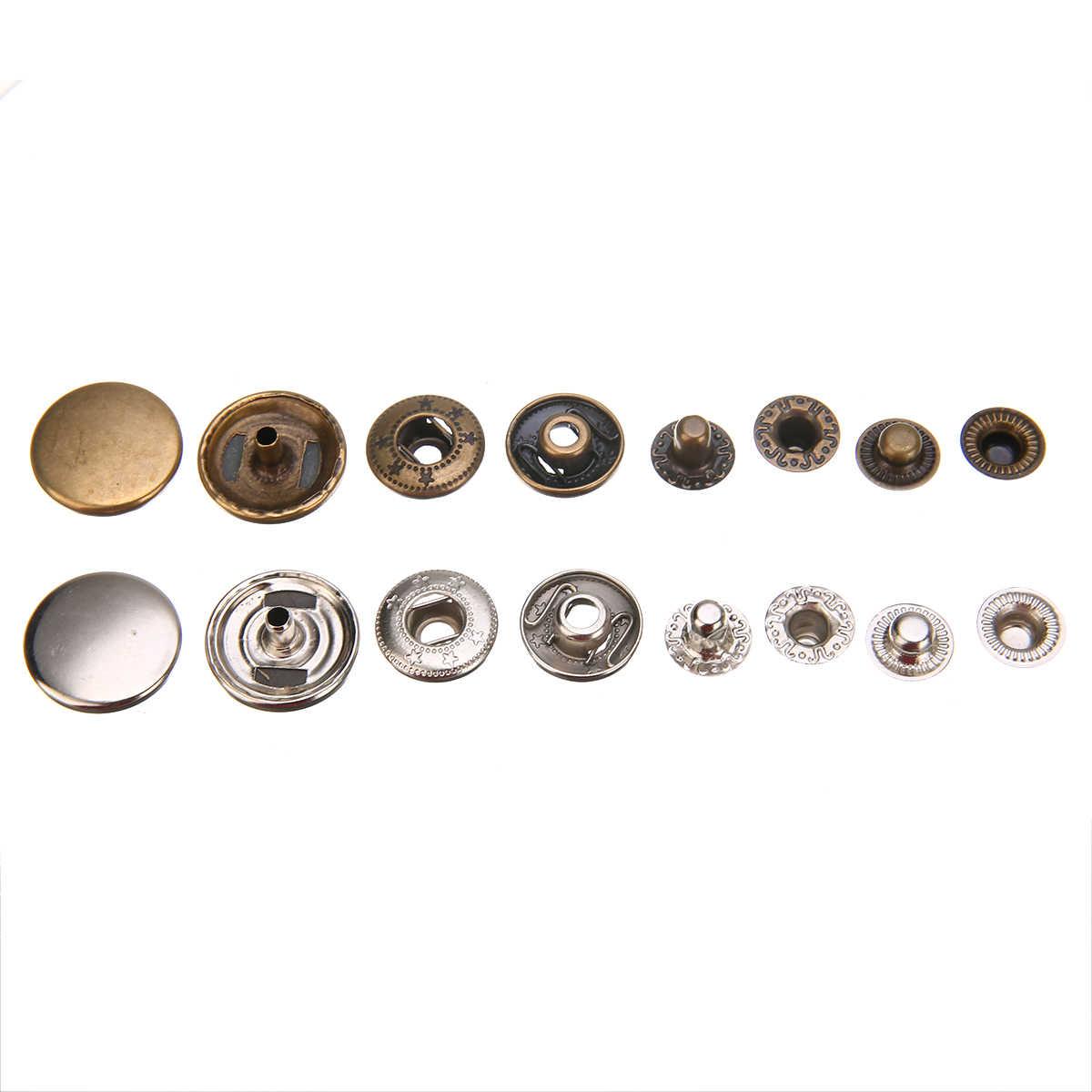 17 ミリメートルヘビーデューティスナップファスナープレススタッド縫製金属スナッププレススタッズボタンと 4 個のため固定ツールレザークラフト